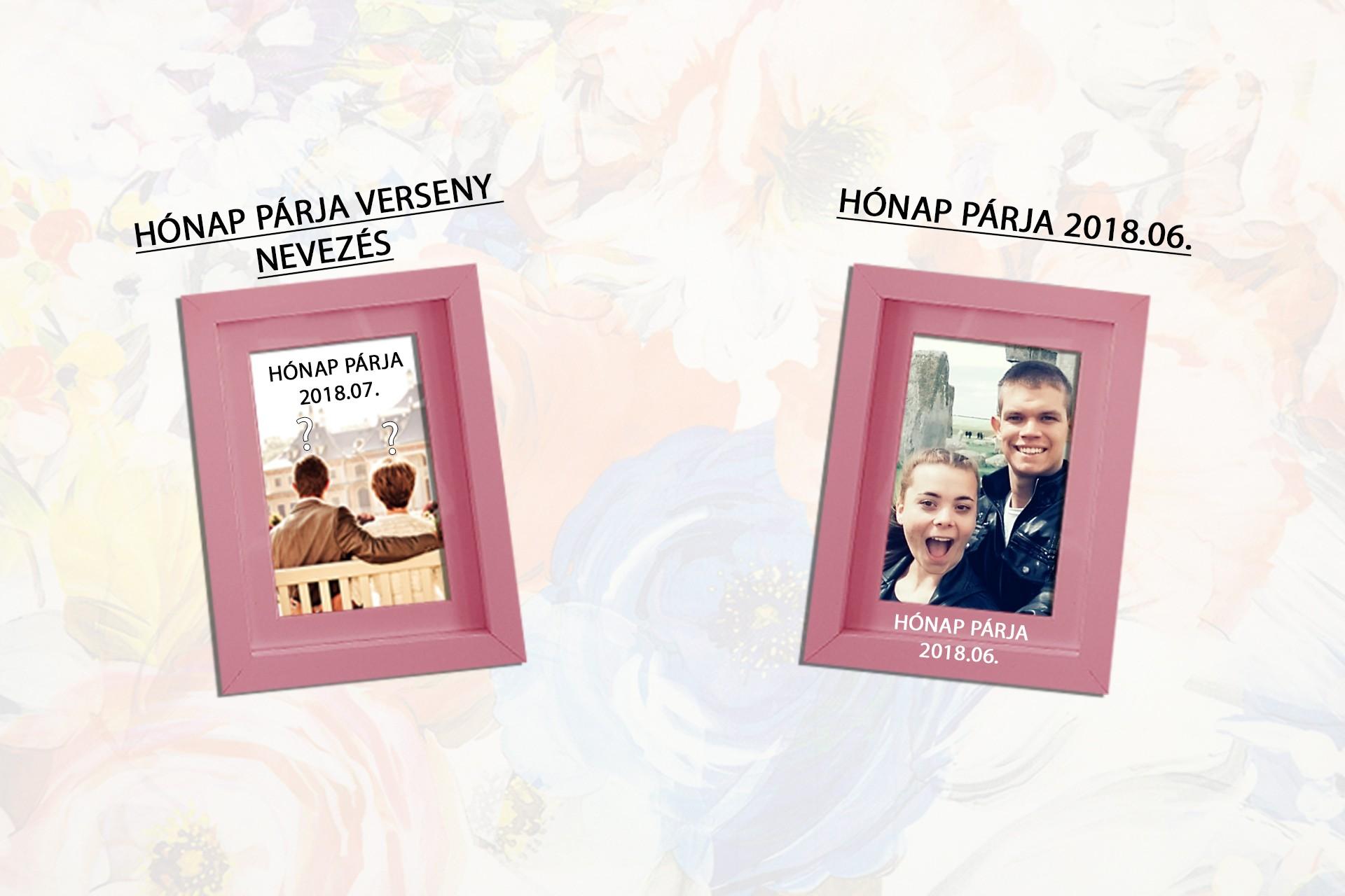 EREDMÉNYHIRDETÉS – HÓNAP PÁRJA VERSENY 2018 JÚNIUS